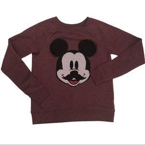 Disney Mickey Mouse Mustache Sweater Womens XS